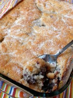 Blueberry Cobbler - This is by far THE BEST cobbler I've ever made, and I've made a lot of cobblers in my day! I added the juice of 1/2 a lemon and 1/2 a lemon's zest. Serve it with vanilla ice cream and it's like heaven in a bowl.