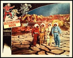 A lobby card for George Pal's classic Destination Moon (1950)