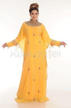 Dubai Farasha Moroccan Kaftan Dress Abaya Jilbab Islamic Arabian clothing 4168