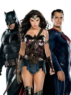 Batman, Wonder Woman and Superman Batman Vs Superman, Batman Versus, Marvel Vs, Marvel Dc Comics, Supergirl, Dc Trinity, Super Heroine, Gal Gadot Wonder Woman, Film Logo