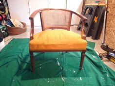 Who Doesn't Want a Chair Like This Gracing Their Home? ME! See how I took this AMAZING $5 Thrift Store find & TRANSFORMED it MYSELF! Once you see my AFTER picture, you WILL want it :) #chair #diy #trashtotreasure