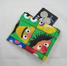 Sesame Street Boxes Fabric Coin Purse - Free P&P £5.00