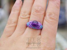 """Zhu Ying"" Tutorial anillo de cuerda trenzada original de macramé"