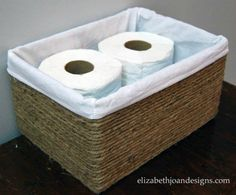 Or turn empty cardboard boxes into baskets Short on baskets? Cut a few cardboard boxes to the shape you need and wrap them in rope