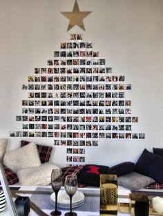 Sapin composé de photos Polaroid par Monoprix : Des sapins de Noël pas comme les autres - Journal des Femmes