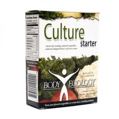 Body Ecology Veggie Culture Starter. Start Veggin' Out! http://www.honeycolony.com/product/get-the-veggie-starting/