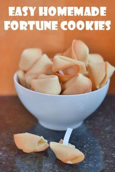 Easy Homemade Fortune Cookies Recipe. Create your own fortunes for Valentine's Day, a gender reveal party, a milestone birthday, a party favor, a baby shower, a wedding shower, Chinese New Year... the possibilities are endless. Such a great light dessert and you can personalize what's inside!