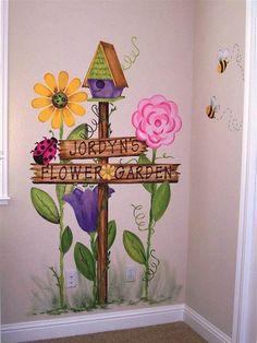 Resultado de imagen de childrens garden murals