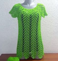 Crochet Leaf Blouse