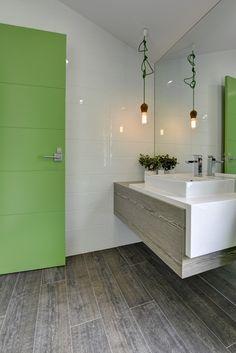 = green + cord + door   vanity designed by Luisa Interior Design