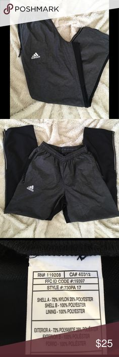 Adidas Men's athletic pants ▪️lightweight joggers  ▪️dark grey front / black in back  My son worked at an Adidas event and was given these to wear but he didn't  want them after the event so they are brand new and only worn once Adidas Pants Sweatpants & Joggers