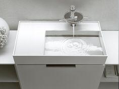 modernes schlafzimmer design runder wasserhahn dünn