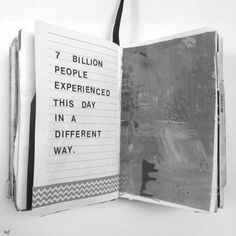 7 billion people experiences this day in a very different way