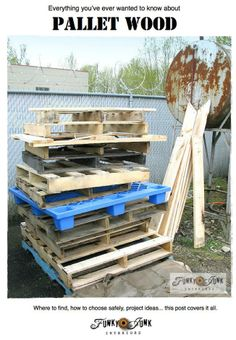 Everything you've ever wanted to know about pallet wood: How to choose safely, how to prepare it, project ideas. This post covers it all.