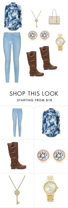 """""""School outfit"""" by alyissa-narvais ❤ liked on Polyvore featuring 7 For All Mankind, Yves Saint Laurent, Michael Kors, 1928, Kate Spade, MICHAEL Michael Kors, women's clothing, women's fashion, women and female"""