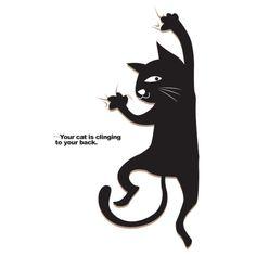 ぶらさがり猫   デザインTシャツ通販 T-SHIRTS TRINITY(Tシャツトリニティ)