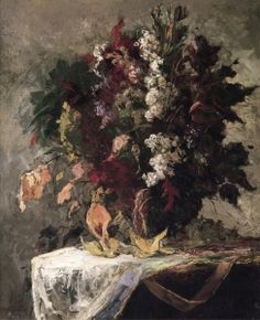 Floral Still Life - Edward Mitchell Bannister (1828-1901)