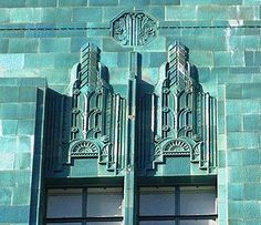 Art Deco tile facade of the I. Magnin Building in downtown Oakland, CA. Image via Artistic Licence News.