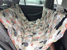 """How to make a DIY pet hammock for safety and comfort in the car. Going to do a more """"waterproof"""" version that will help make possible carsick doggy cleanup issues a bit easier, for dad for Father's Day."""