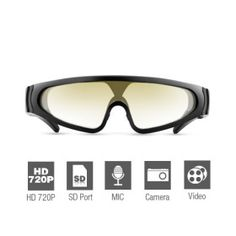 720P HD Spy Sport Glasses DVR with Remote Control 720P HD Spy Sport Glasses DVR with Remote Control