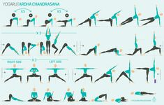 It comes up in yoga classes quite frequently, but no matter your level is still a challenge, here's how to do half moon pose Yoga Flow Sequence, Yoga Sequences, Yoga Poses, Hip Anatomy, Moon Salutation, Side Crow, Breath In Breath Out, Deep Breath, Boost Immune System