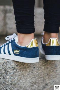 510f6f6450f ADIDAS GAZELLE OG W (NIGHT INDIGO   FTWR WHITE   GOLD METALLIC) Sneakers  Adidas