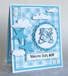 Baby Shower Card Congratulations New Baby New Parent. Handmade Baby Card And Bag Pebbles Inc . Baby Shower Cards Handmade, Handmade Birthday Cards, Greeting Cards Handmade, Baby Girl Cards, New Baby Cards, Welcome Baby Boys, Kids Cards, Homemade Cards, Stampin Up Cards