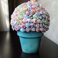 Small Lollipop Topiary Table Centerpiece for by BasketsOfDestiny