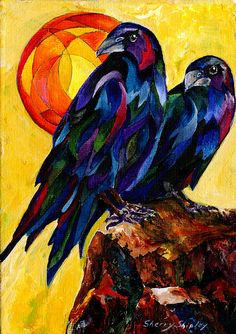 "Glorious!!! ""Raven Pair"" by Sherry Shipley"