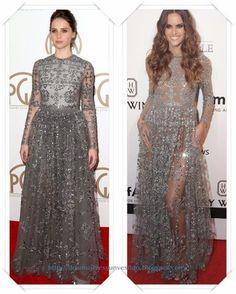 Un vestido de Valentino Pre-Fall 2015 se lo vimos a Felicity Jones en los Producers Guild Of America Awards; después a Izabel Goulart en la Gala amfAR.