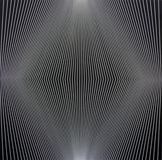 "Julian Stanczak, ""Brim Two,"" 1972, oil on plastic"