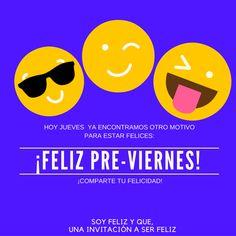 A DISFRUTAR!!! 👏 👏 👏 #soyfelizyque #unainvitacionaserfeliz #felicidad #feliz #felicidades #muyfeliz #masfeliz #happy #happyday #veryhappyday #veryhappy #séfeliz #másfeliz #bienestar #felices #tanfeliz #yosoysfyq #sfyq #frases #vivir #amar #corazon #motivacion #bienestar Morning Thoughts, Good Morning Messages, Smiley Faces, Happy, Thursday, Random, Memes, Truths, Qoutes Of Life