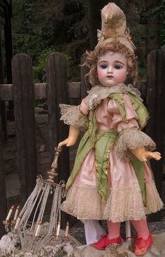 ~~~ Stunning French Bisque Bebe by Gaultier in Original Costume ~~~ from whendreamscometrue on Ruby Lane