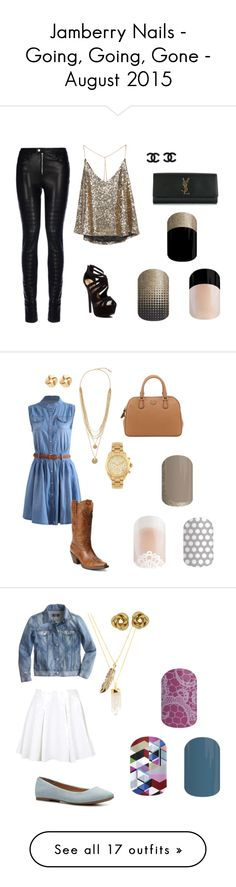 """Jamberry Nails - Going, Going, Gone - August 2015"" by flashyjams on Polyvore"