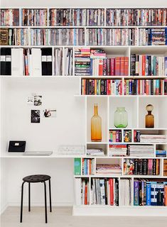 More Than 30 Awesome Built In Bookshelves built in bookshelves - Built In IKEA Billy Bookcase Hack display storage built in bookcases desk shelf life in 2019 7 Surprising Built In Bookcase Des. Home Library Design, Home Office Design, Home Office Decor, Home Design, Home Decor, Office Ideas, Desk Ideas, Bookcase Desk, Wall Bookshelves