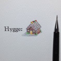 Miniature Painting of A Gingerbread House by Brooke Rothshank.