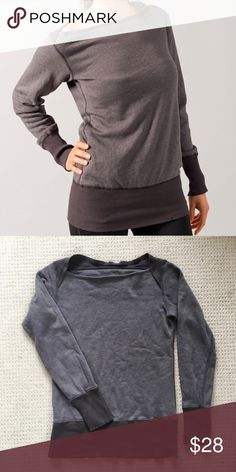 VGUC Oiselle Boatneck Sweatshirt - Small Very good used condition. Charcoal gray, Boatneck Sweatshirt. oiselle Tops Sweatshirts & Hoodies
