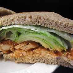 Buffalo Tofu Sandwich with  Cayenne Aioli