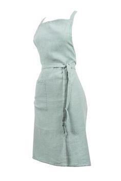 Harmony - Tablier en lin lavé Nais - 100% lin lavé stone wash - Celadon - 70*90 cm - Home Beddings and Curtains