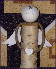 Christmas Angel Ornaments, Christmas Wood Crafts, Christmas Crafts, Merry Christmas, Wooden Crafts, Diy And Crafts, Angel Crafts, Xmas Decorations, Craft Activities