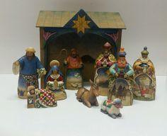 Jim Shore Heartwood Creek Nativity Scene Complete Set Stable 9 Figurines KK | eBay