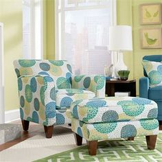 The chair from lazy boy that I want for my library!!! So cute and love the pattern