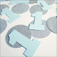 Boy's First Birthday Party Confetti