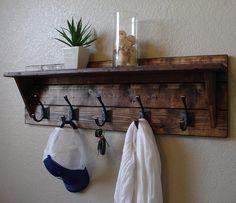 Corvallis Rustic Modern 5 Hanger Hook Coat Rack with by KeoDecor, $145.00