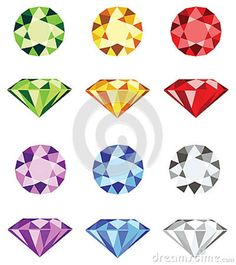 Illustration about Illustration of six different colorful gemstones + vector eps file. Illustration of illustration, isolated, bright - 24758645 Jewellery Sketches, Jewelry Drawing, Jewelry Art, Flower Jewelry, Dainty Jewelry, Boho Jewelry, Wedding Jewelry, Jewelry Bracelets, Fine Jewelry