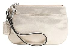 Coach Leather Small F45651 (sv/gold) Wristlet. Get the trendiest Clutch of the season! The Coach Leather Small F45651 (sv/gold) Wristlet is a top 10 member favorite on Tradesy. Save on yours before they are sold out!