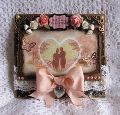 Carolyn's Handmade Treasures. Victorian shabby chic valentine's day card. Love