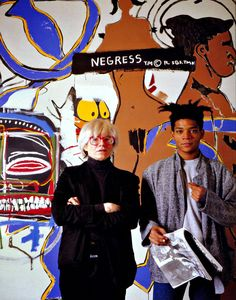 Andy Warhol and Jean-Michel Basquiat / 1985 ...BTW, Please Check Out This Artist's Work -->: http://universalthroughput.imobileappsys.com/site2/ The Gallery Of An Acrylic Creationist here: http://universalthroughput.imobileappsys.com/site2/gallery.php