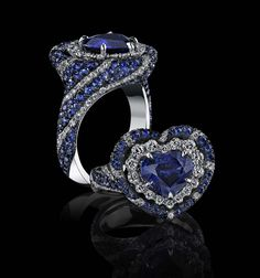 Robert Procop heart-shaped sapphire ring. See more at www.thejewelleryeditor.com