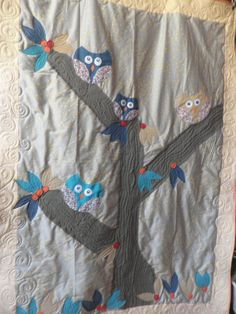 Owl, owls and owlz Quilt Personalised Design, Colors and Sizes, Custom Orders. $92.00, via Etsy.